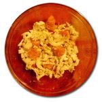 Insalata di cavoli, formaggio e zucca