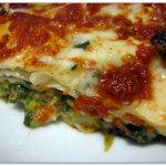 Lasagne con spinaci e mozzarella