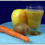 Succo di frutta: kiwi, mela, carote