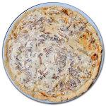 Torta salata con radicchio e formaggi freschi
