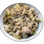 Finocchi con uova, olive, capperi