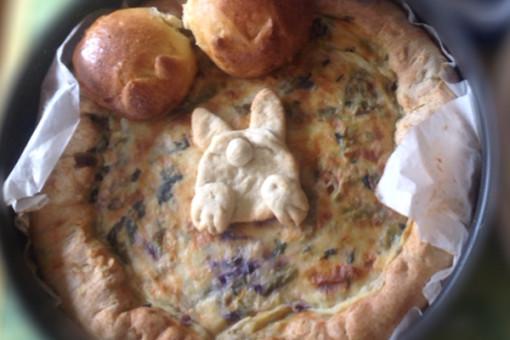 Torta salata con base al grano saraceno e ...coniglietto!