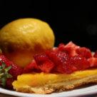 Crostata con crema a limone