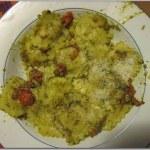 Pasta con pesto e pomodori (tipo tarantina)