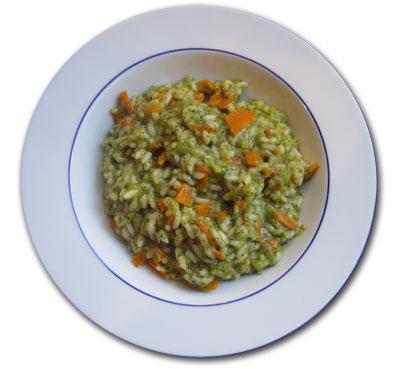 Risotto con broccoli e carote