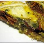 Torta con asparagi, carote, cipollotti tipo quiche
