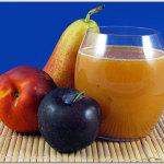 Succo di frutta: susine rosse, pere forelle, pesche nettarine