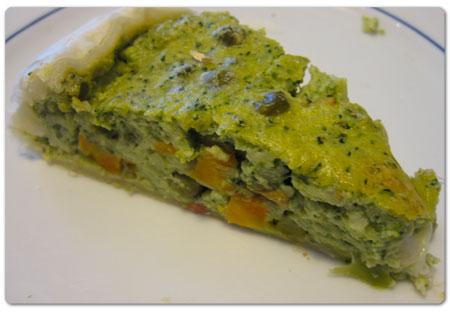 Torta salata con broccoli
