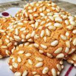 Biscotti con riso soffiato, cocco e cioccolato