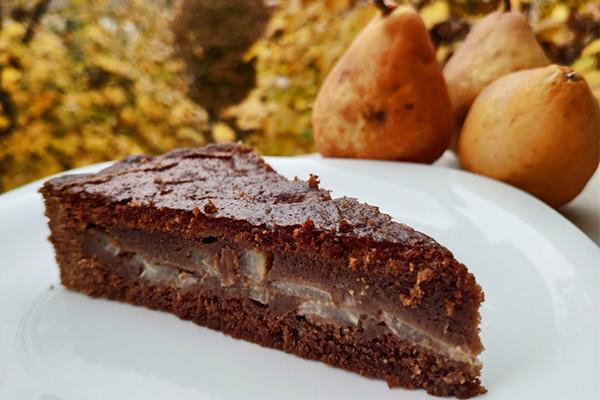 Crostata pere, cioccolato e rum